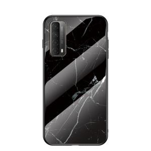 Θήκη Huawei P Smart (2021) OEM σχέδιο Marble με Πλάτη Tempered Glass TPU μαύρο