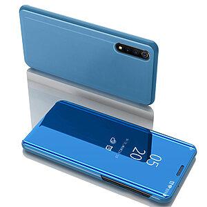 Θήκη Huawei P Smart S OEM Mirror Surface Series Flip Window δερματίνη χρυσό γαλάζιο