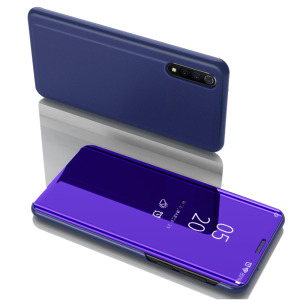 Θήκη Huawei P Smart S OEM Mirror Surface Series Flip Window δερματίνη χρυσό μπλε