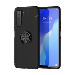 Θήκη Huawei P40 Lite 5G OEM Magnetic Ring Kickstand / Μαγνητικό δαχτυλίδι / Βάση στήριξης TPU μαύρο