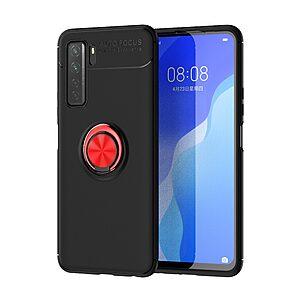 Θήκη Huawei P40 Lite 5G OEM Magnetic Ring Kickstand / Μαγνητικό δαχτυλίδι / Βάση στήριξης TPU μαύρο / κόκκινο