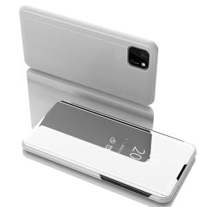 Θήκη Huawei Y5p OEM Mirror Surface Series Flip Window δερματίνη χρυσό ασημί