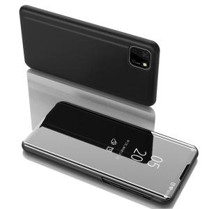 Θήκη Huawei Y5p OEM Mirror Surface Series Flip Window δερματίνη χρυσό μαύρο