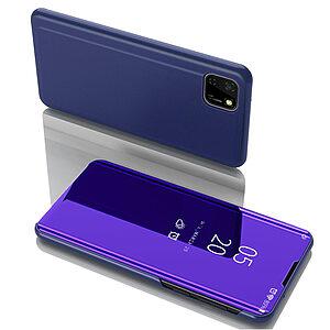 Θήκη Huawei Y5p OEM Mirror Surface Series Flip Window δερματίνη χρυσό μπλε
