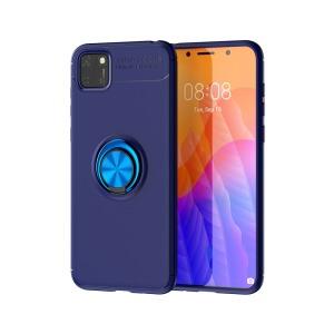 Θήκη Huawei Y5p OEM Magnetic Ring Kickstand / Μαγνητικό δαχτυλίδι / Βάση στήριξης TPU μπλε