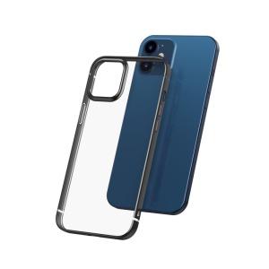 Θήκη iPhone 12 Mini BASEUS διακριτική πλάτη με Anti-fall Plating από Premium TPU μαύρο