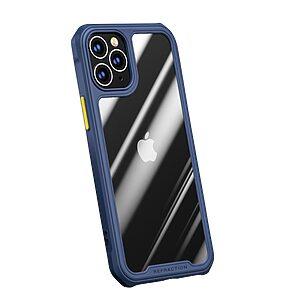 Θήκη iPhone 12 Mini IPAKY Sockproof ανθεκτική και ελαφριά Πλάτη από ενισχυμένο Premium σκληρό TPU μπλε