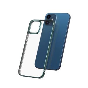 Θήκη iPhone 12 Mini BASEUS διακριτική πλάτη με Anti-fall Plating από Premium TPU πράσινο