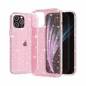 Θήκη iPhone 12 Mini OEM πλάτη με διακριτικό γκλίτερ από αντικραδασμικό Premium TPU ροζ
