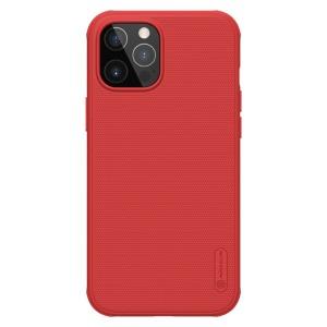 Θήκη iPhone 12 Pro Max NiLLkin Super Frosted Shield Pro Series Πλάτη από Premium σκληρό TPU κόκκινο