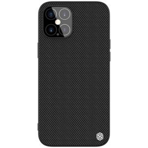 Θήκη iPhone 12 Pro Max NiLLkin Textured Hard Case Series Πλάτη από ενισχυμένο πλαστικό και TPU μαύρο