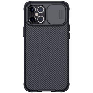 Θήκη iPhone 12 Pro Max NiLLkin Camshield Series Πλάτη με προστασία για την κάμερα από σκλήρό Premium TPU μαύρο