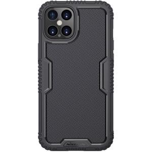 Θήκη iPhone 12 Pro Max NiLLkin Tactics Series SockProof πλάτη από σκληρό Premium TPU μαύρο