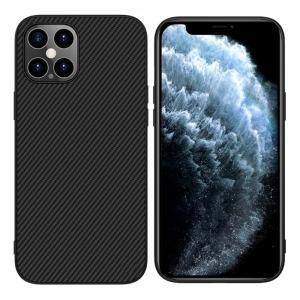 Θήκη iPhone 12 Pro Max NiLLkin NiLLkin Synthetic Fiber Series πλάτη από ανθρακόνημα και TPU μαύρο