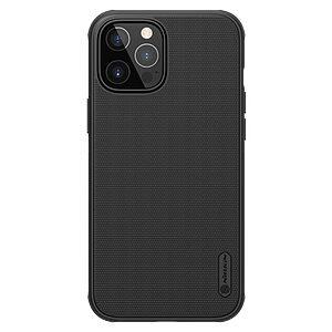 Θήκη iPhone 12 Pro Max NiLLkin Super Frosted Shield Pro Series Πλάτη από Premium σκληρό TPU μαύρο