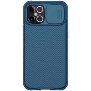 Θήκη iPhone 12 Pro Max NiLLkin Camshield Series Πλάτη με προστασία για την κάμερα από σκλήρό Premium TPU μπλε
