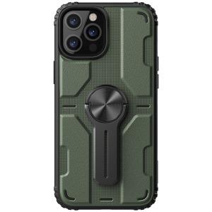 Θήκη iPhone 12 Pro Max NiLLkin Medley Series πλάτη με αποσπώμενο Kickstand και Βάση στήριξης από σκληρό Premium TPU πράσινο