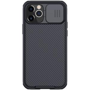 Θήκη iPhone 12 / 12 Pro NiLLkin Camshield Series Πλάτη με προστασία για την κάμερα από σκλήρό Premium TPU μαύρο