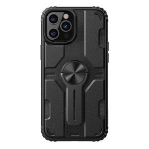 Θήκη iPhone 12 / 12 Pro NiLLkin Medley Series πλάτη με αποσπώμενο Kickstand και Βάση στήριξης από σκληρό Premium TPU μαύρο