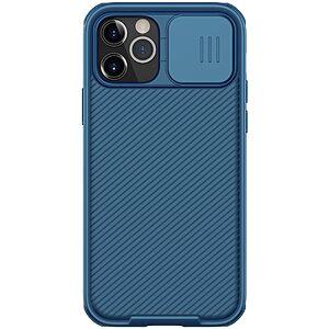 Θήκη iPhone 12 / 12 Pro NiLLkin Camshield Series Πλάτη με προστασία για την κάμερα από σκλήρό Premium TPU μπλε