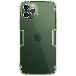 Θήκη iPhone 12 / 12 Pro NiLLkin Nature Series 0.6mm Πλάτη TPU πράσινο