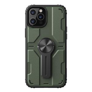 Θήκη iPhone 12 / 12 Pro NiLLkin Medley Series πλάτη με αποσπώμενο Kickstand και Βάση στήριξης από σκληρό Premium TPU πράσινο