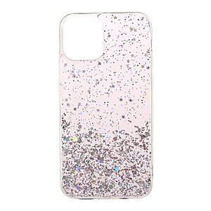 Θήκη iPhone 12 / 12 Pro OEM πλάτη Epoxy με διακριτικό γκλίτερ και αντικραδασμικό TPU ροζ