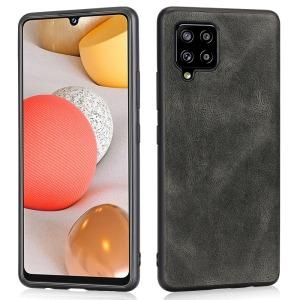 Θήκη Samsung Galaxy A42 OEM πλάτη Crazy Horse Leather από συνθετικό δέρμα και σκληρό TPU γκρι