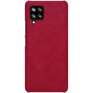 Θήκη Samsung Galaxy A42 NiLLkin Qin Series με υποδοχή για κάρτες Flip Wallet από σκληρό πλαστικό και συνθετικό δέρμα κόκκινο