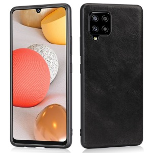 Θήκη Samsung Galaxy A42 OEM πλάτη Crazy Horse Leather από συνθετικό δέρμα και σκληρό TPU μαύρο