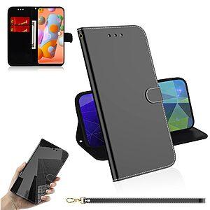 Θήκη Samsung Galaxy M11 OEM Mirror Surface γυαλιστερή με βάση στήριξης