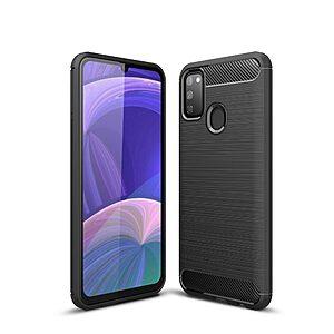 Θήκη Samsung Galaxy M21 OEM Brushed TPU Carbon Πλάτη μαύρο