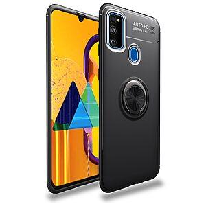 Θήκη Samsung Galaxy M21 OEM Magnetic Ring Kickstand / Μαγνητικό δαχτυλίδι / Βάση στήριξης TPU μαύρο