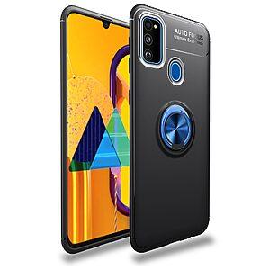 Θήκη Samsung Galaxy M21 OEM Magnetic Ring Kickstand / Μαγνητικό δαχτυλίδι / Βάση στήριξης TPU μαύρο / μπλε