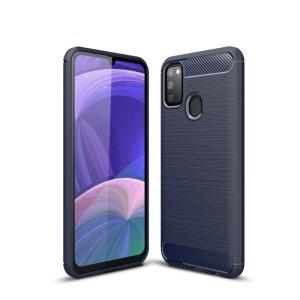 Θήκη Samsung Galaxy M21 OEM Brushed TPU Carbon Πλάτη μπλε σκούρο