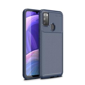 Θήκη Samsung Galaxy M21 OEM Beetle Series Carbon Fiber Πλάτη TPU μπλε
