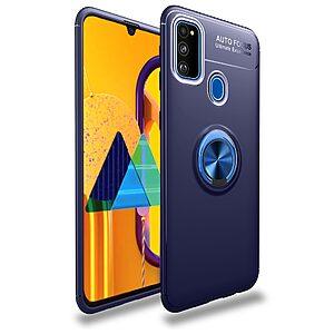 Θήκη Samsung Galaxy M21 OEM Magnetic Ring Kickstand / Μαγνητικό δαχτυλίδι / Βάση στήριξης TPU μπλε