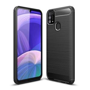 Θήκη Samsung Galaxy M31 OEM Brushed TPU Carbon Πλάτη μαύρο