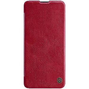 Θήκη Samsung Galaxy M51 NiLLkin Qin Series με υποδοχή για κάρτες Flip Wallet από σκληρό πλαστικό και συνθετικό δέρμα κόκκινο