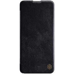 Θήκη Samsung Galaxy M51 NiLLkin Qin Series με υποδοχή για κάρτες Flip Wallet από σκληρό πλαστικό και συνθετικό δέρμα μαύρο