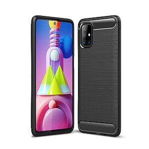 Θήκη Samsung Galaxy M51 OEM Brushed TPU Carbon Πλάτη μαύρο