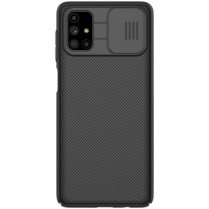 Θήκη Samsung Galaxy M51 NiLLkin Camshield Series Πλάτη με προστασία για την κάμερα από σκλήρό Premium TPU μαύρο