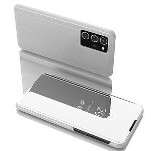 Θήκη Samsung Galaxy Note 20 Ultra OEM Mirror Surface Series Flip Window δερματίνη χρυσό ασημί