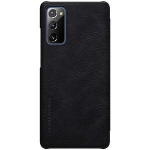 Θήκη Samsung Galaxy S20 FE NiLLkin Qin Series με υποδοχή για κάρτες Flip Wallet από σκληρό πλαστικό και συνθετικό δέρμα μαύρο