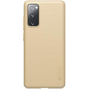 Θήκη Samsung Galaxy S20 FE NiLLkin Super Frosted Shield Series Πλάτη από Premium σκληρό πλαστικό χρυσό