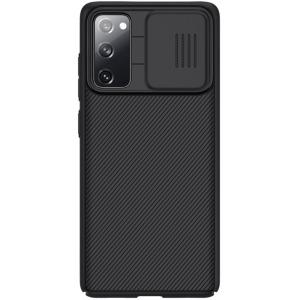 Θήκη Samsung Galaxy S20 FE NiLLkin Camshield Series Πλάτη με προστασία για την κάμερα από σκλήρό Premium TPU μαύρο