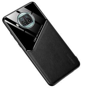 Θήκη Xiaomi Mi 10T Lite OEM Magnetic Glass Series πλάτη με ενσωματωμένο μαγνήτη και υποστήριξη μαγνητικής βάσης από συνθετικό δέρμα TPU μαύρο