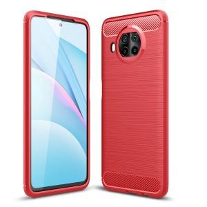 Θήκη Xiaomi Mi 10T Lite OEM Brushed TPU Carbon Πλάτη κόκκινο ανοιχτό