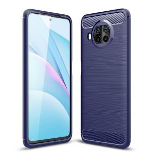 Θήκη Xiaomi Mi 10T Lite OEM Brushed TPU Carbon Πλάτη μπλε σκούρο