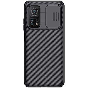 Θήκη Xiaomi Mi 10T / Mi 10T Pro NiLLkin Camshield Series Πλάτη με προστασία για την κάμερα από σκλήρό Premium TPU μαύρο